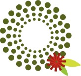 geometric stylized wreath